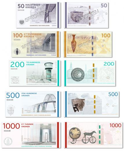 New Danish banknotes
